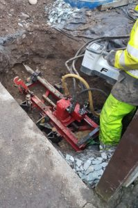 Mole water pipe replacement